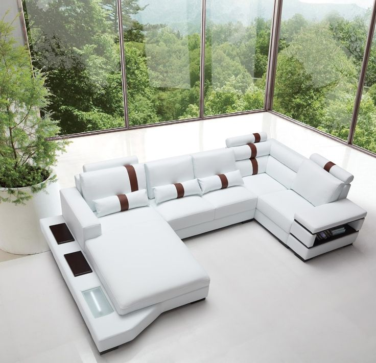 Modern White Leather Sectional Sofa: 25+ Best Ideas About Sectional Sofas On Pinterest