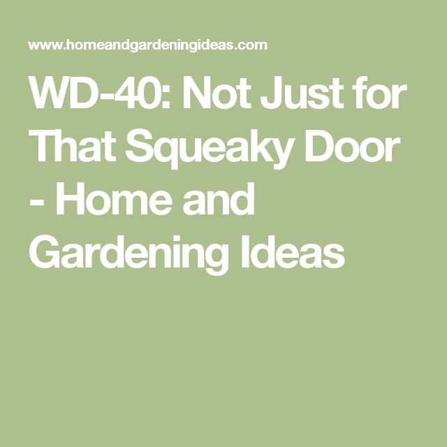 WD-40: Not Just for That Squeaky Door - Home and Gardening Ideas