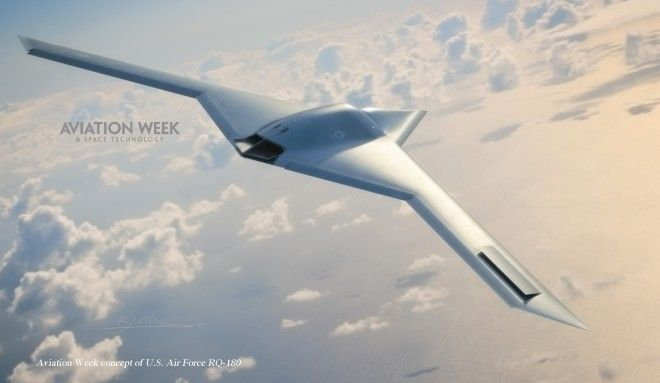 New Stealth Spy Drone Already Flying Over Area 51   Conceptual image of an RQ-180 developed from sources by Aviation Week and Space Technology. Image: Aviation Week and Space Technology [Future Drones: http://futuristicnews.com/tag/drone/]