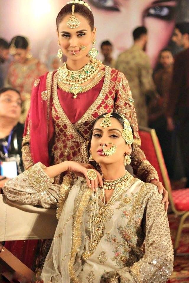 """""""Mehreen Syed and Noor Bhatti ready for Zara Shahjahan's show at PLBW16. Photographed by Sara Jamil. """""""