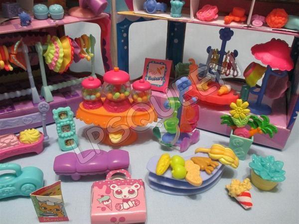 Littlest Pet Shop Lot Shopping Mall Food Accessories 10 Random 100 Authentic Pet Shop Pets Toy Craft