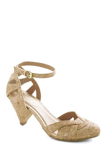 Cinnamon Scones Heel in Sugar - Mid, Gold, Solid, Glitter, Holiday Party, Exclusives