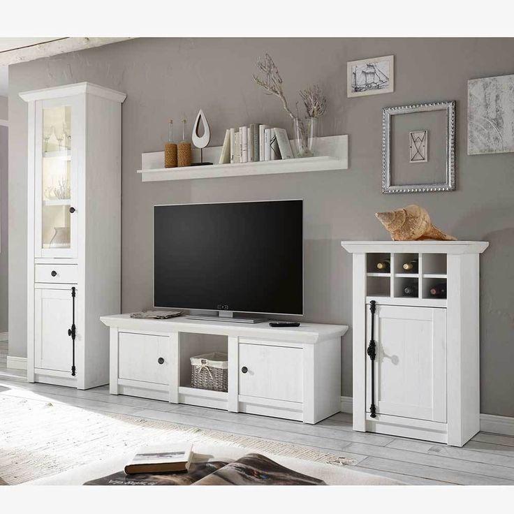 Die besten 25+ Pinienmöbel Ideen auf Pinterest kleine Regale - wohnzimmer weis landhaus