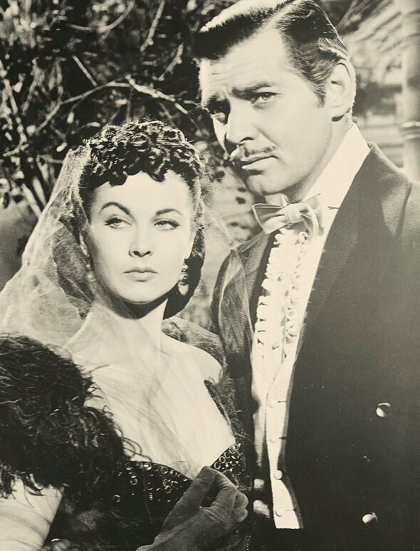 "Scarlett O'Hara & Rhett Butler, ""Gone With the Wind"""