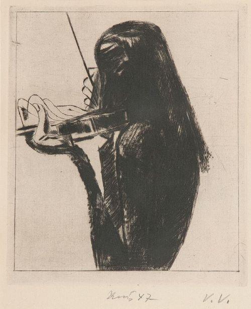 Frantisek Tichy (Czech, 1896 - 1961) - Paganini V, 1947dry point