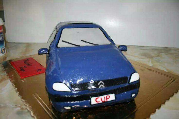 Citroën saxo cup cake