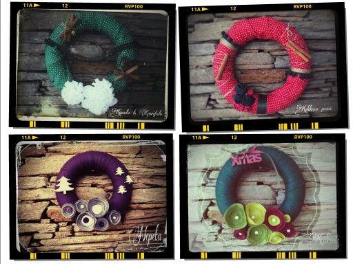 Handmade xmas wreaths D 22 /30