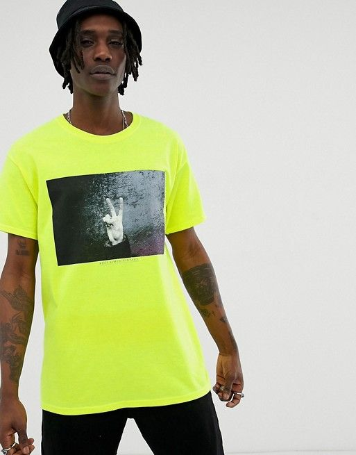 336752917 Reclaimed Vintage inspired oversized photographic hand t-shirt in ...