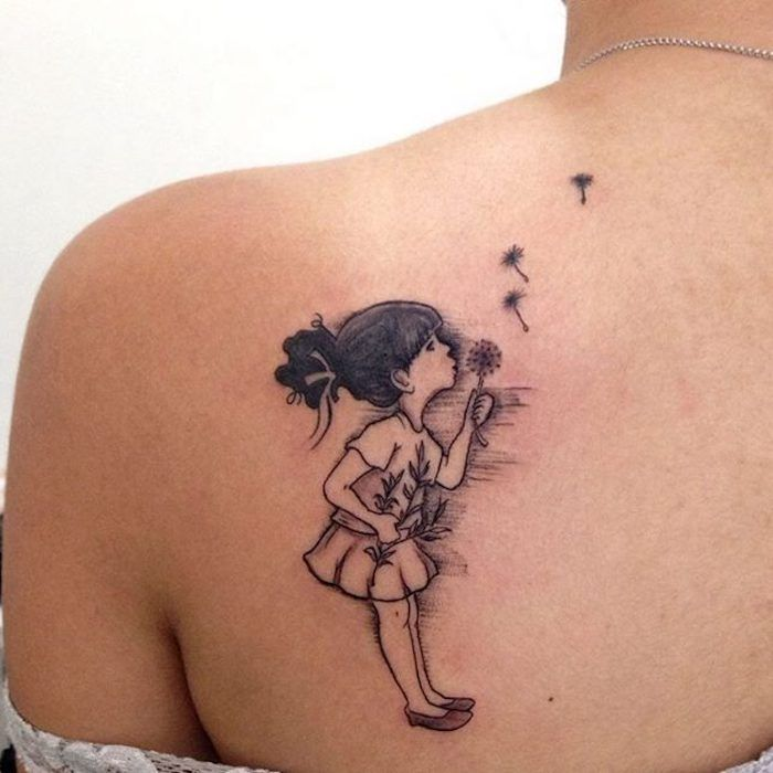 ▷ 1001 inspirations for a cool dandelion tattoo
