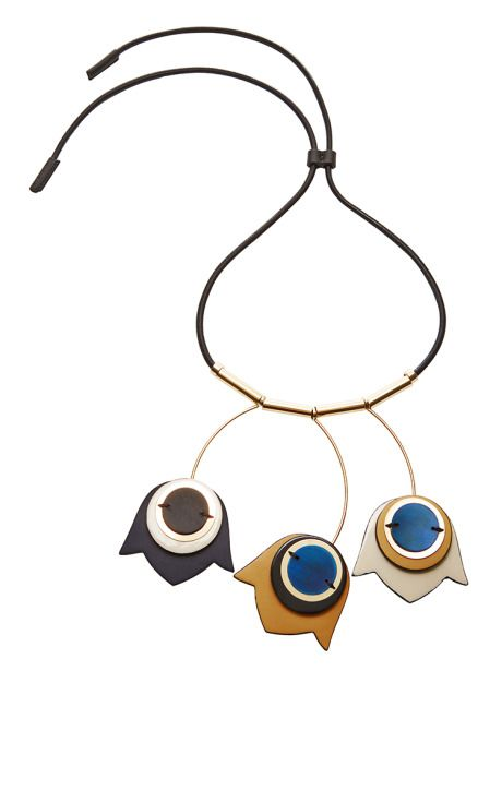 Gold-Plated and Leather Necklace by Marni Now Available on Moda Operandi