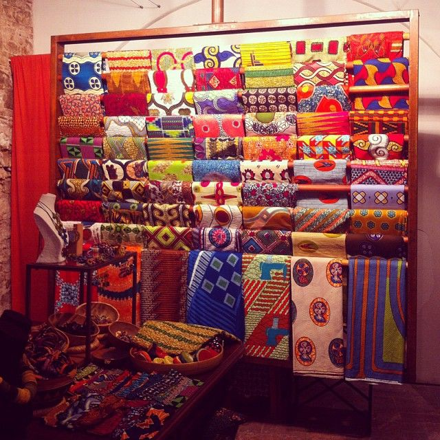 11 best stof images on pinterest fabric patterns - Telas africanas barcelona ...
