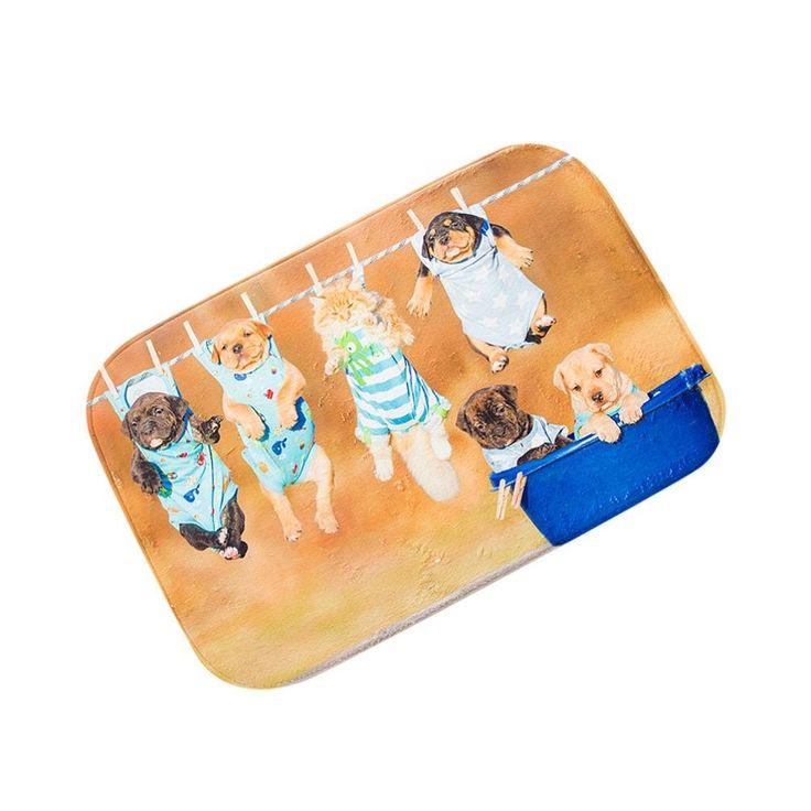 Bilila Dogs Door Kitchen Carpets Memory Foam Bathroom