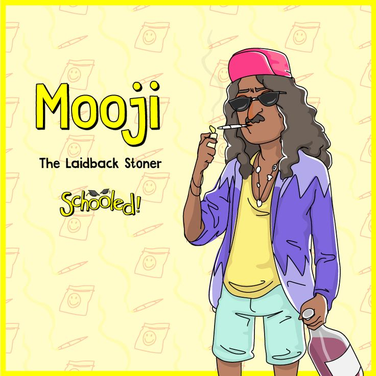 Meet Mujesh 'Mooji' Kharma! Mooji is a precariously free-spirited, casual drug dealer who always seems to be high on his own supply. He's gone hard early on day 1 of O-week and is already far too cooked already to compete in the final with Benny. But not so far gone that he can't spring into action when he detects an opportunity for a quick sale to the boys. On tick of course. It's not wonder he's everybody's best friend.