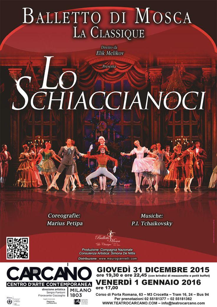Capodanno al #Carcano #Milano con LO SCHIACCIANOCI, proposto dal Balletto di Mosca - La Classique.