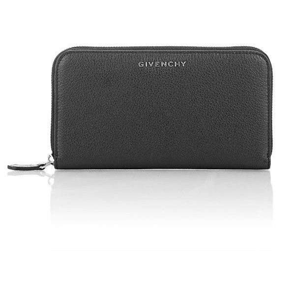Givenchy Women's Pandora Zip-Around Wallet (€630) ❤ liked on Polyvore featuring bags, wallets, black, 12 card wallet, pocket bag, zip around wallet, givenchy and givenchy bags