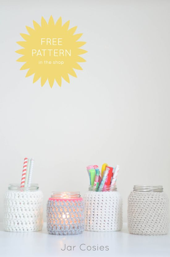 Crochet Jars - Tutorial ❥ 4U // hf