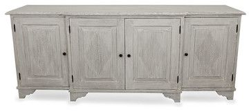 Ellington Sideboard - White Weathered - transitional - Buffets And Sideboards - Bliss Home & Design