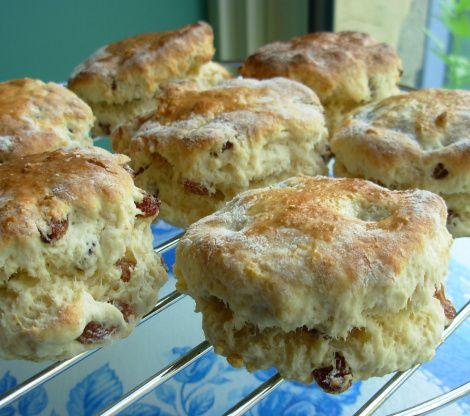 Traditional English Tea Time Scones With Jam And Cream Recipe - Food.com: Food.com