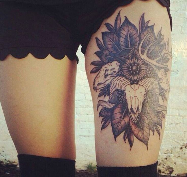 Tattoo For Self Harm Would So Get This On My Right Thigh: Sexy Thigh Tattoo For Women