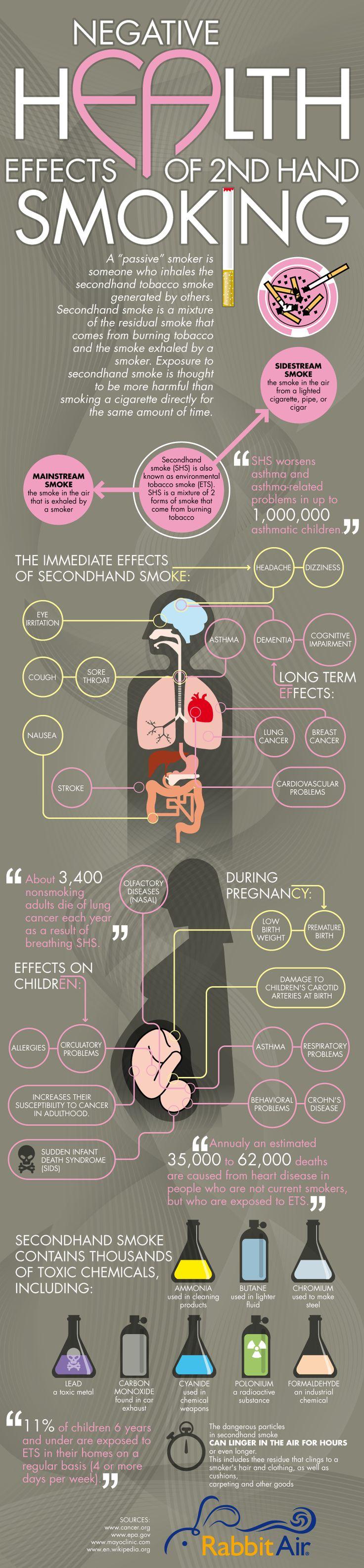 Second Hand Smoke Dangers - iNFOGRAPHiCs MANiAiNFOGRAPHiCsMANiA