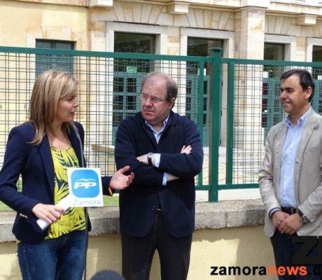 Herrera se compromete a apoyar el proyecto de San Damián de construir un centro cívico