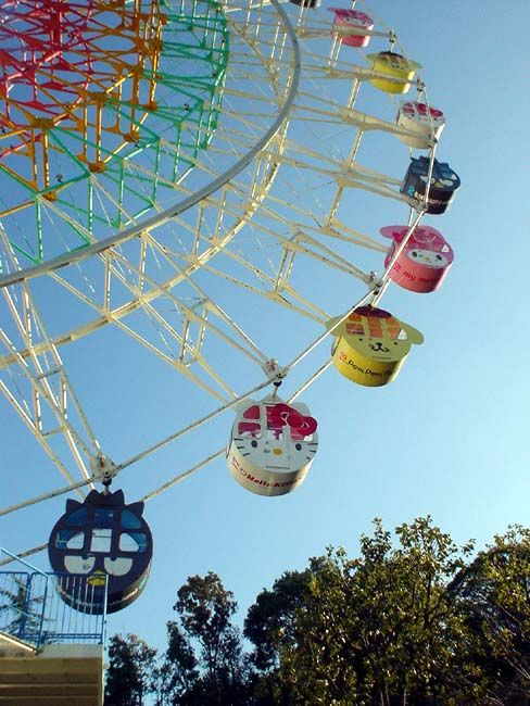 Sanrio Ferris Wheel. This is the only Ferris wheel I reckon I could go on!