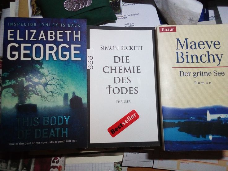 3 Paperbacks, 1 in English, 2 in German