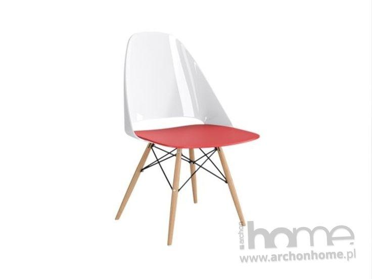 Krzesło Aero biało czerwone  | ARCHONhome