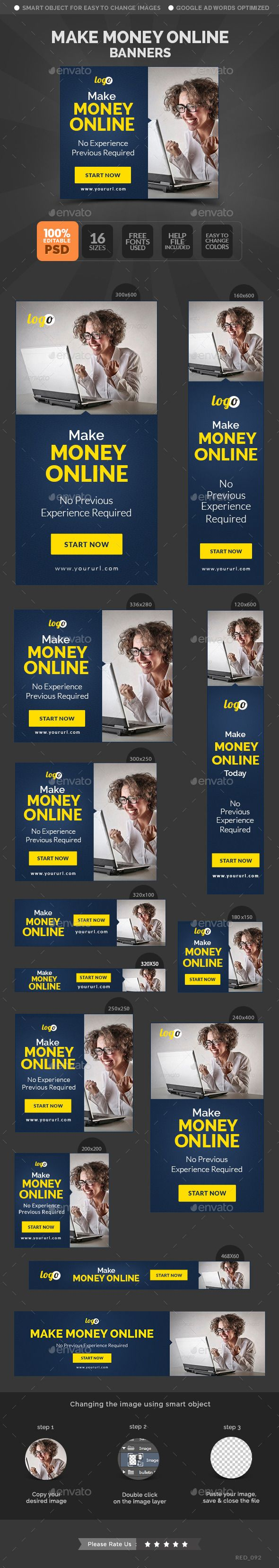 Make Money Online Banners Template
