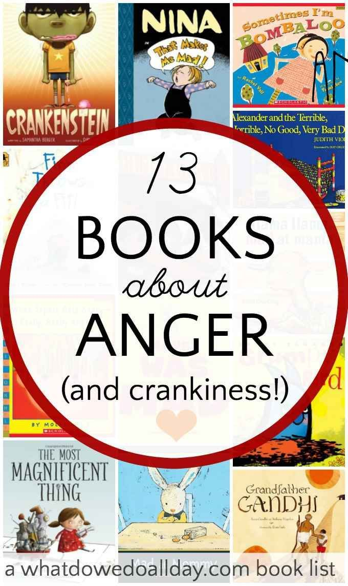 Good books for kids to help them deal with big feelings like anger, frustration, feeling grumpy or being cranky.