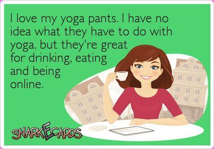 bless you yoga pants...