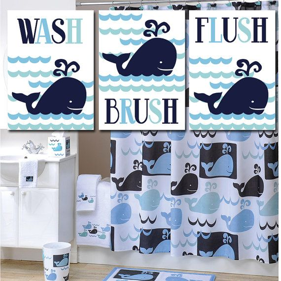 WHALE BATHROOM Art . Whale Watch. Happy Whale by TRMdesign on Etsy