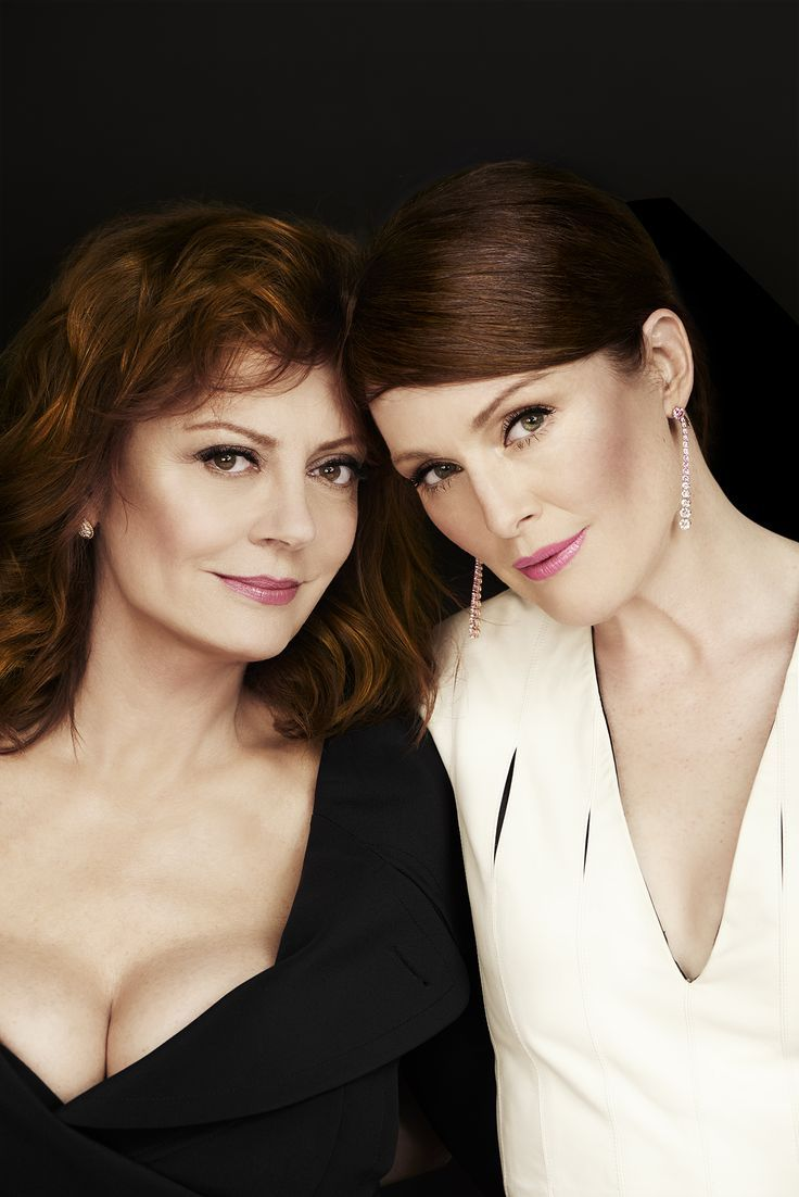 Susan Sarandon and Julianne Moore photographed by Jonas Bresnan in Cannes, May 2016.
