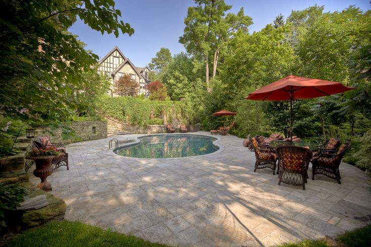 The weather's getting warmer as the summer approaches. Stay cool sitting by your dream pool.