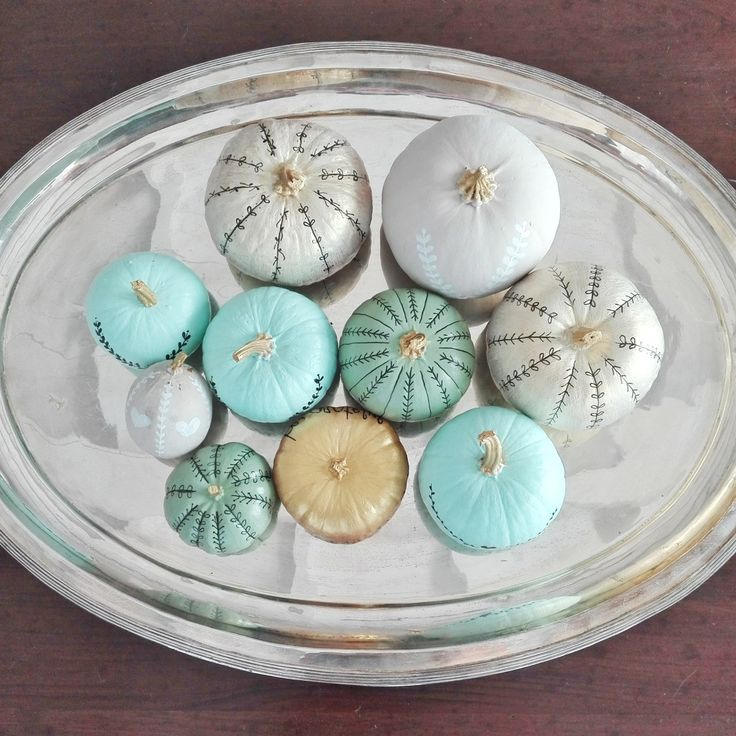 DIY: LE ZUCCHE DIPINTE E DECORATE