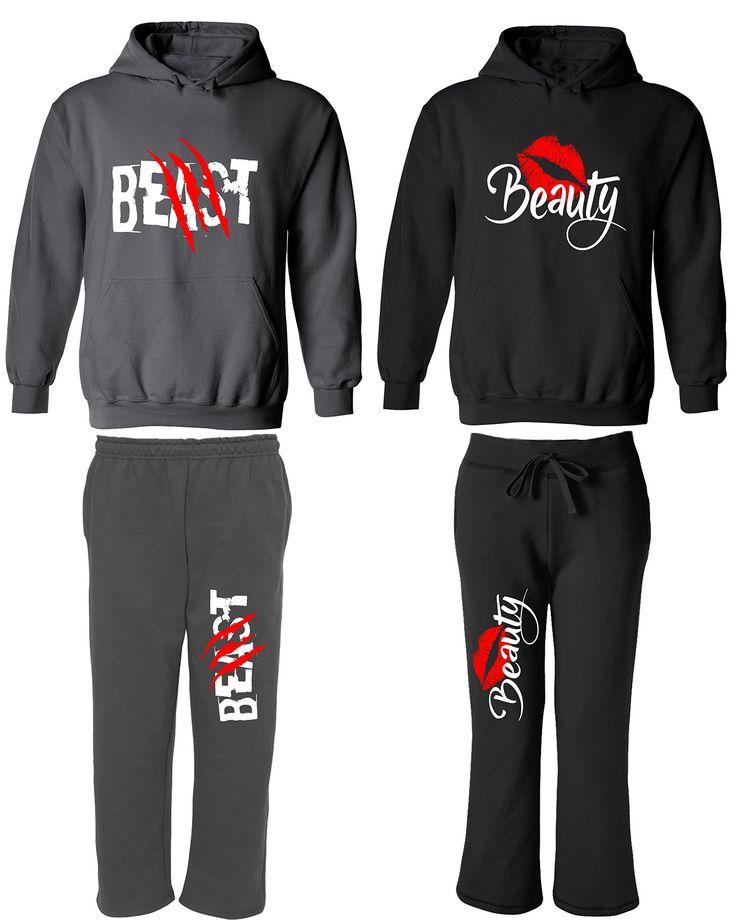 Beast & Beauty - Matching Couple Hoodies & Pocketed Sweatpants