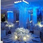 winter wonderland themed reception