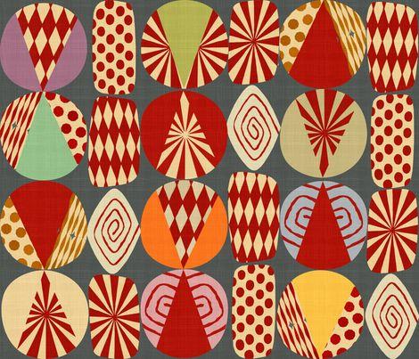 Christmas Holidays minimalist fabric by chicca_besso on Spoonflower - custom fabric