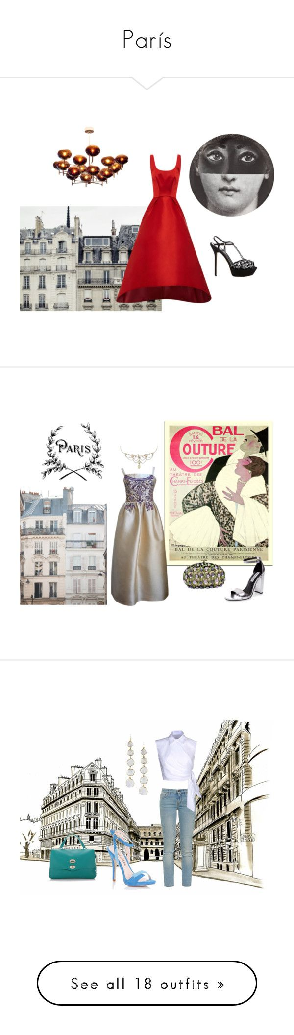 """""""París"""" by clararucula ❤ liked on Polyvore featuring Sergio Rossi, Zara, Fornasetti, Zac Posen, Haussmann, Yves Saint Laurent, J.W. Anderson, Lipsy, Zanellato and Feather & Stone"""