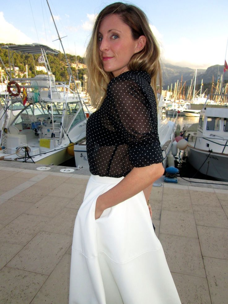 Falda midi blanca #kissmylook