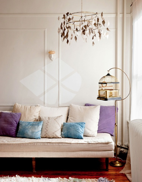 daybed= new couch for me ! :)Decor, Lights Fixtures, Dreams, Colors, Brooklyn Townhouse, Livingroom, Birdcages, Living Room, Design