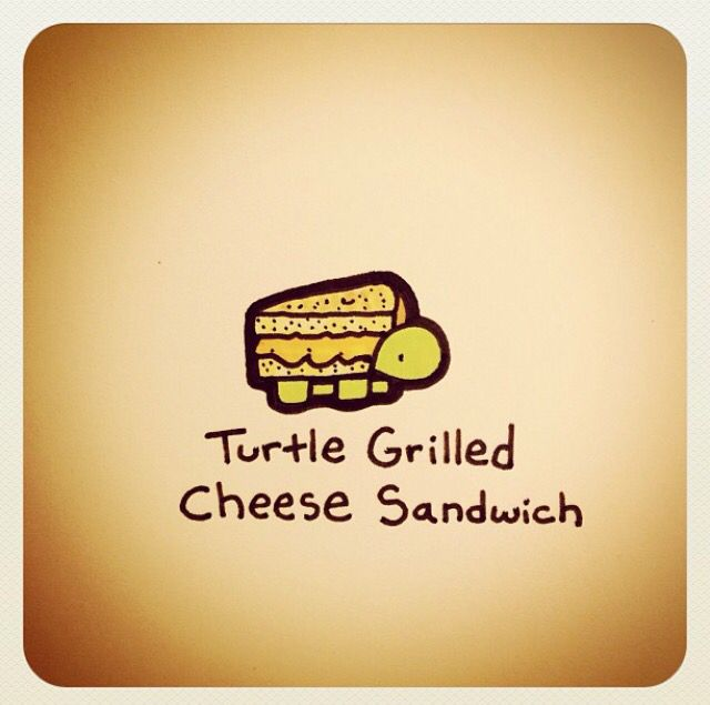 Turtle grilled cheese sandwich