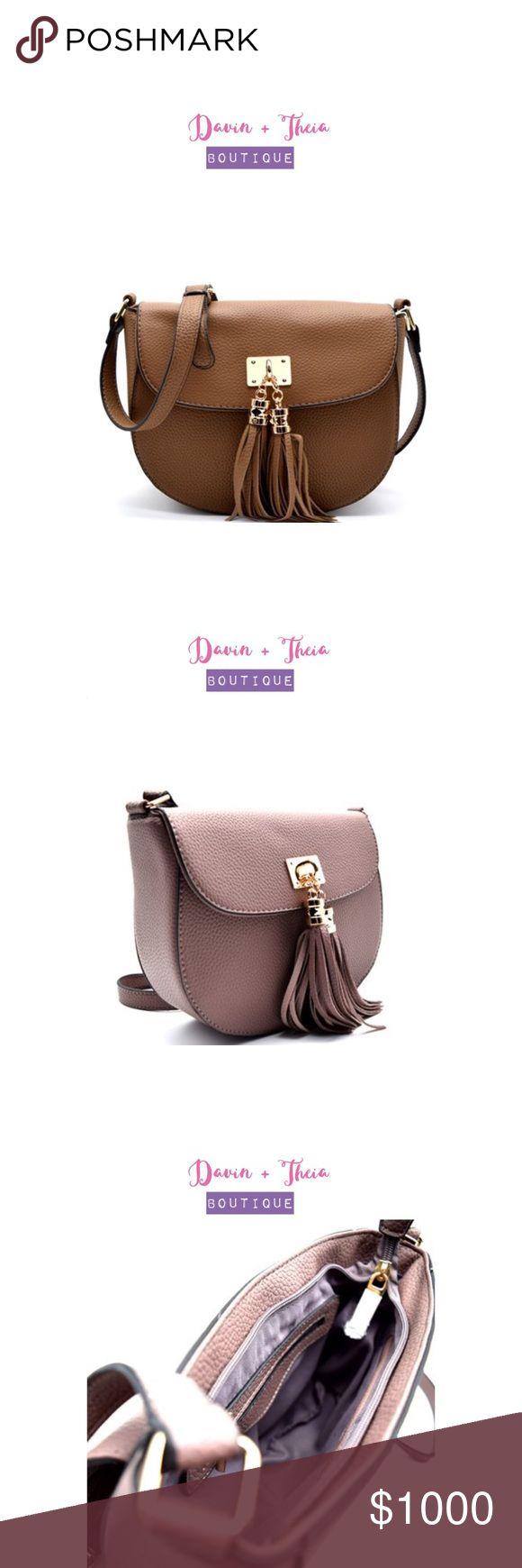 "🌟Pebbled Vegan Leather Crossbody Bag🌟 🌟BRAND NEW🌟  Tassel Accent Flap Crossbody Bag - Pebbled Vegan Leather - Magnetic Snap Closure - Back Exterior Zip Pocket - Inner Zip Pocket - Two Inner Slip Pockets - Adjustable Shoulder Strap  Dimension: 8.5""L x 7.5""H x 3""W  Color: Stone  Other Colors Available on Separate Listing: Mauve, Black, Navy  💟Submit your offer thru the ""Offer"" button 💟NO Price discussion in the comment 💟NO Lowballing 💟NO Trades Davin+Theia Bags Crossbody Bags"