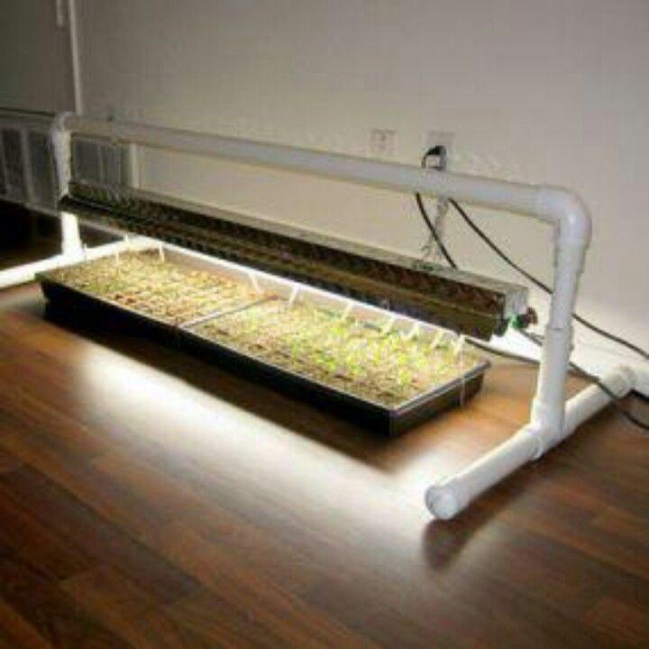 Diy 5 Pvc Led Landscape Lights: DIY PVC Grow Light Stand