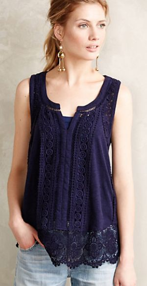 ladder lace tank #anthrofave - get an extra 25% off with code EXTRAEXTRA  http://rstyle.me/n/r56y2pdpe