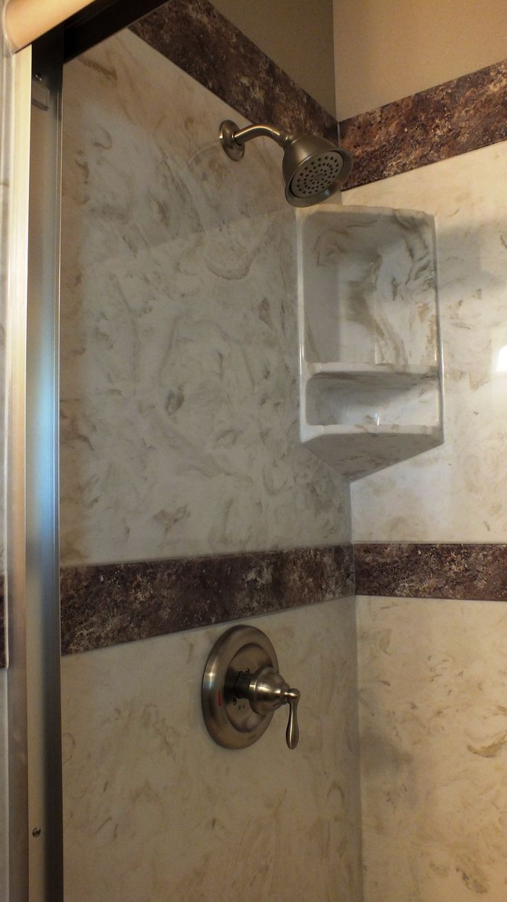 Cultured Marble Tub To Shower Conversion By Marble Masters LLP   Seguin,  Texas Burnt Almond