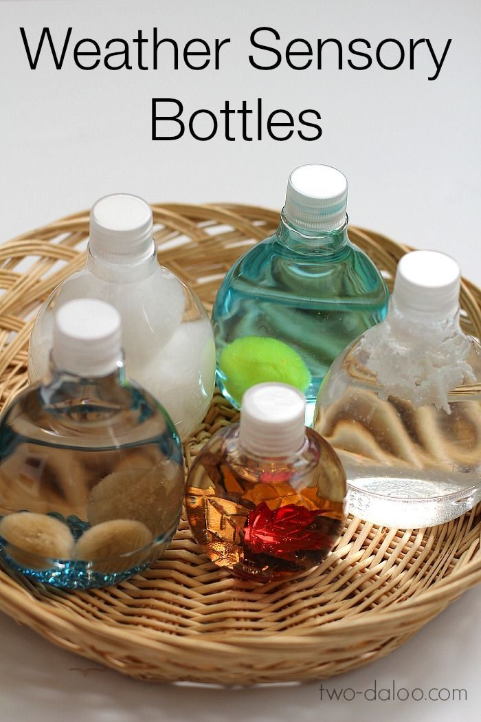 Weather Sensory Bottles for Circle Time - Twodaloo What fun it would be to have these out in a science center!