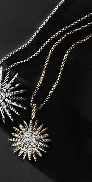 So shiny! Diamond star pendant necklace by David Yurman