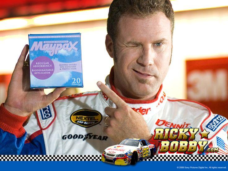 Maypax: the official tampon of NASCAR | Talladega Nights