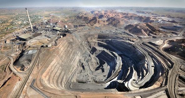 A copper mine in Mount Isa, Australia.
